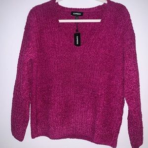 NWT Express pink berry chenille sweater